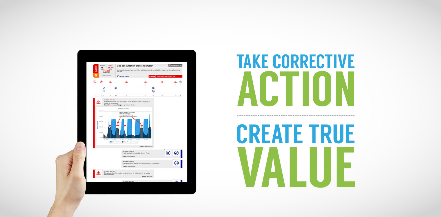 Take corrective action to create true value